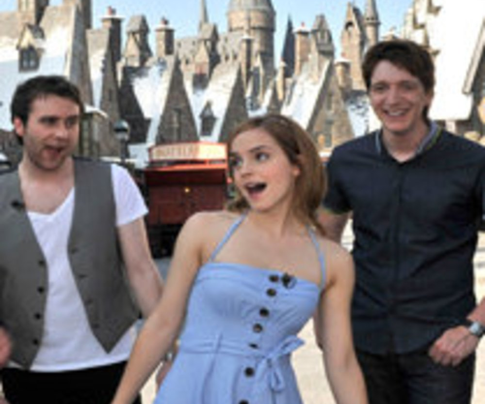 "Harry-Potter-Stars besuchen ""Wizarding World"""