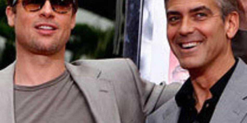 George Clooney und Brad Pitt: attraktive Vorbilder