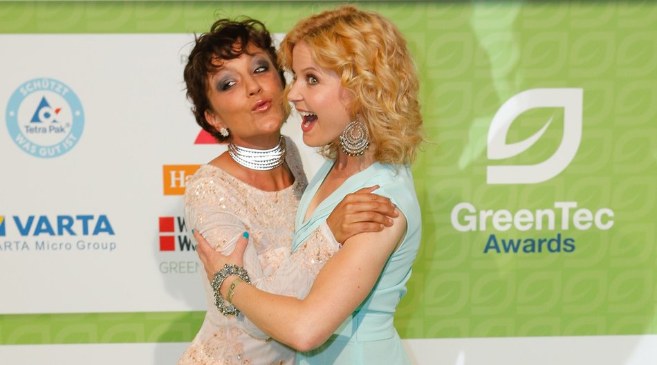 BERLIN, GERMANY - MAY 29: (L-R) Miriam Pielhau and Eva Imhof attends the GreenTec Awards 2015 at Tempodrom on May 29, 2015 in Berlin, Germany. (Photo by Christian Marquardt/Getty Images)