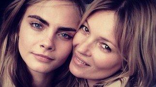 Cara Delevingne und Kate Moss werben für Burberry