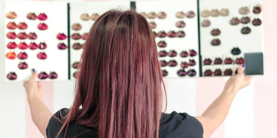 Rote Haare färben