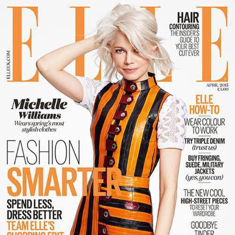 Michelle Williams: Mit weißblondem Wuschelbob auf dem Elle-Cover