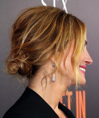 Julia Roberts: Lockere Hochsteckfrisur