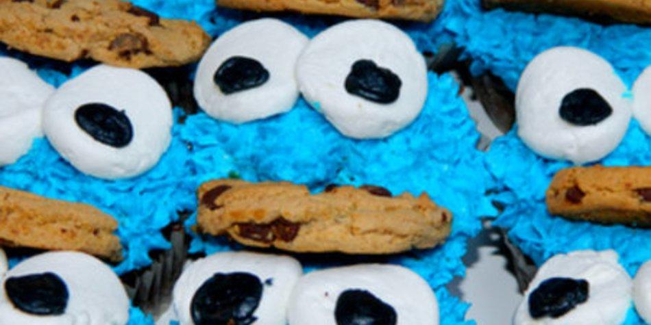 Krümelmonster-Muffins für Kids