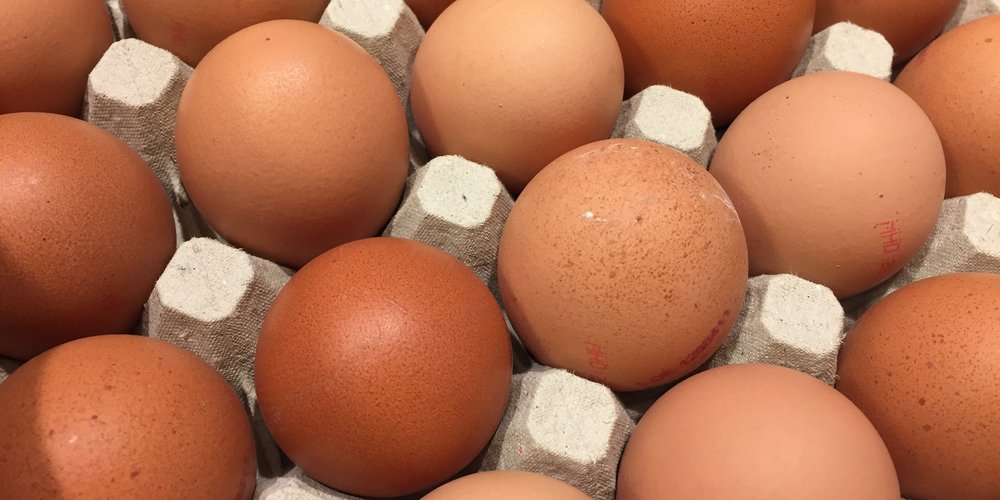 Eggs from chicken farm in the package