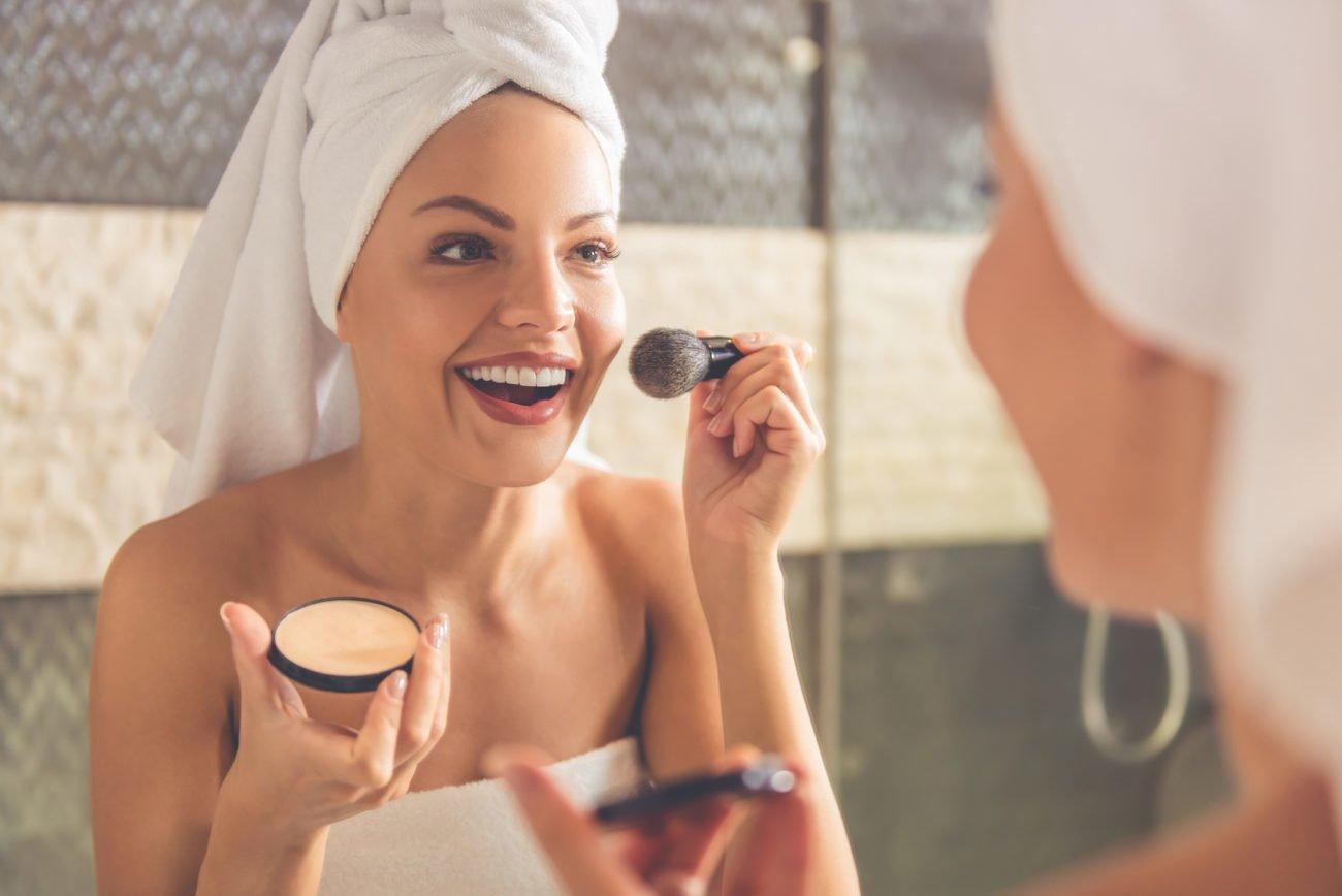 Make-up mit Mineralien