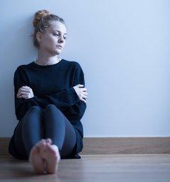 Deprimiertes Mädchen