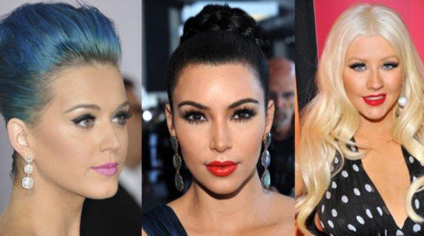 Katy Perry, Kim Kardashian und Christina Aguilera