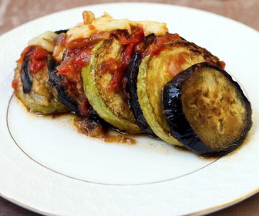 Aubergine Zucchini Auflauf