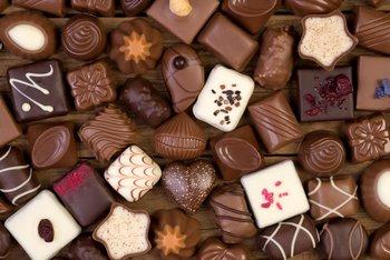 Wir essen eine Menge Schokolade!