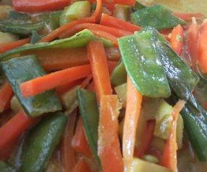 Asiagemüse mit Curry-Kokos-Sauce