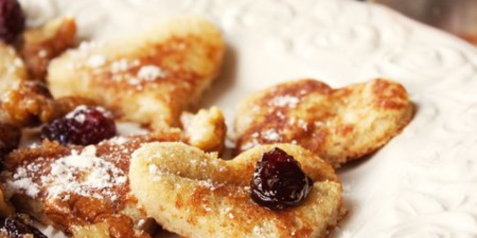 Eierlikör-Pancake-Herzen