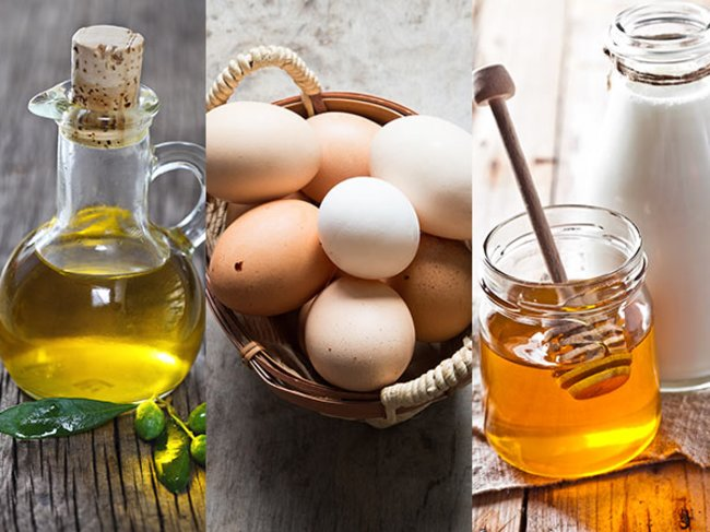 Olivenöl, Eier, Honig
