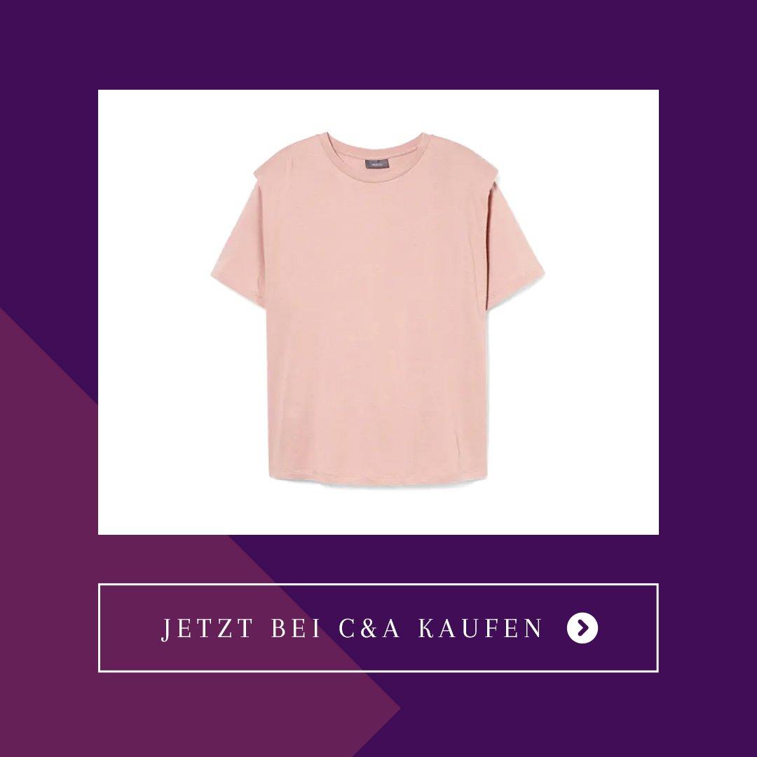 C&A Trendteil T-Shirt mit Schulterpolstern