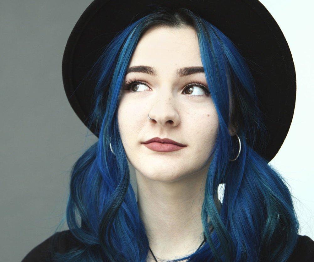 blaue Haare