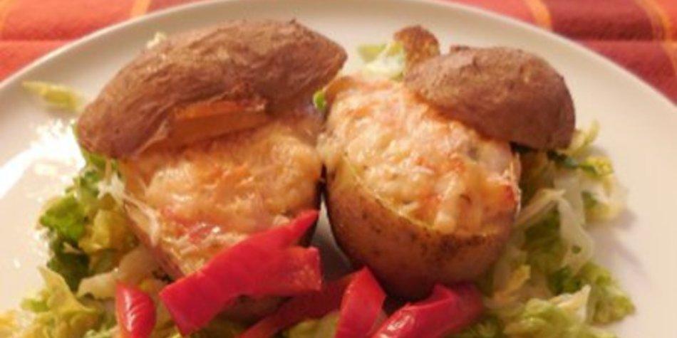 Überbackene Kartoffeln mit Milrahmkäse