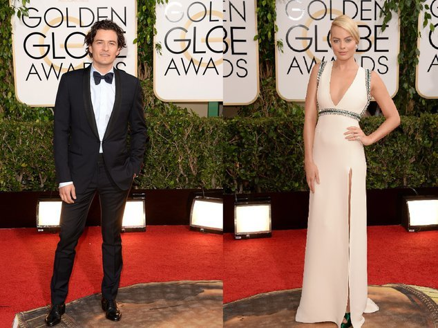 Orlando Bloom und Margot Robbie bei den Golden Globes