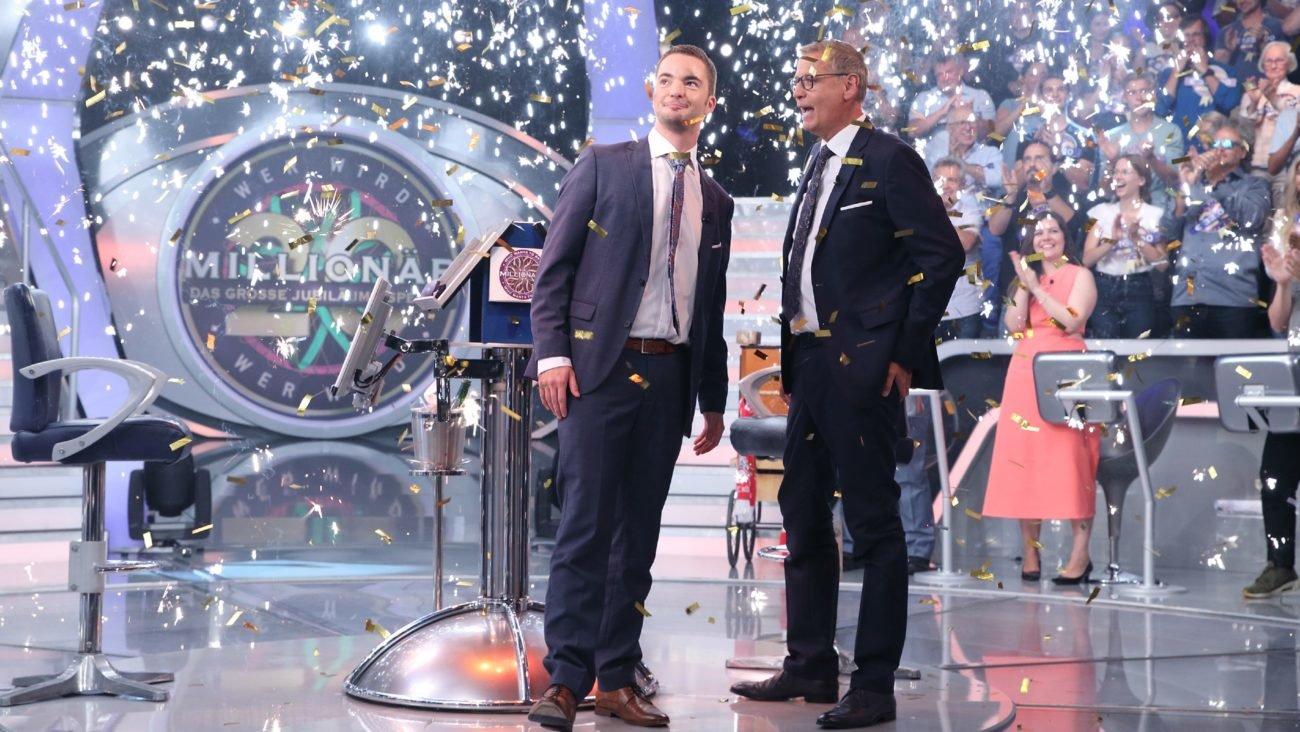 20 Jahre Wer wird Millionär? Das große Jubiläums-Special Moderator Günther Jauch mit Jan Stroh
