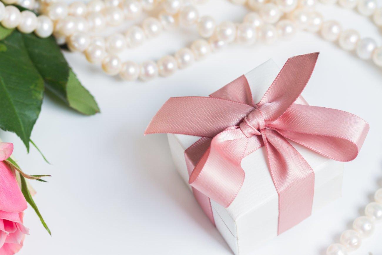 Perlenhochzeit Geschenk