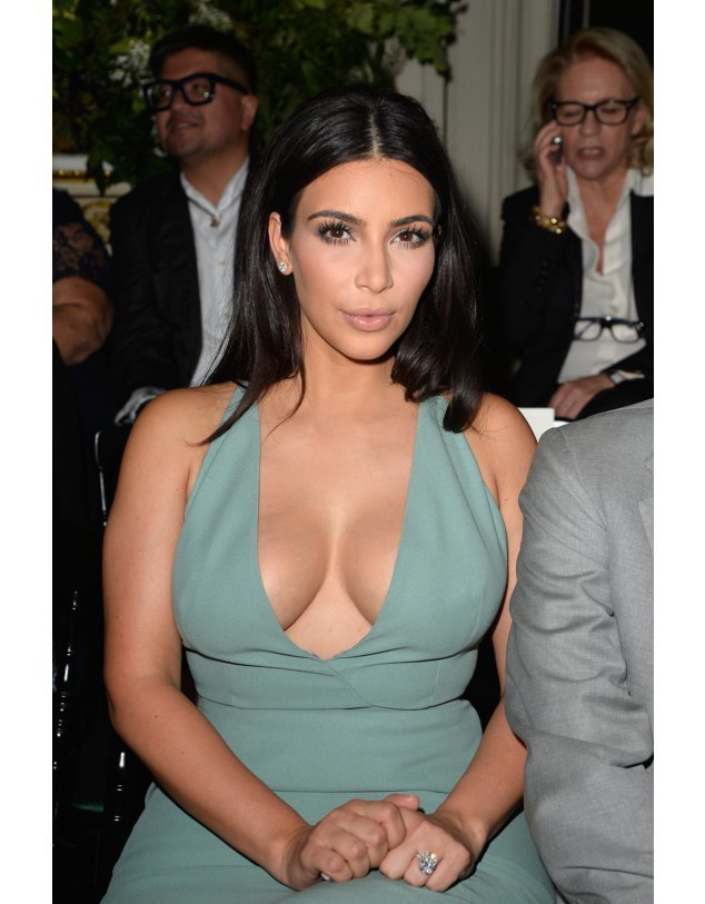 Kim Kardashian bei der Fashion Week in Paris.