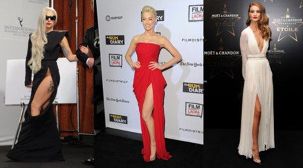 Lady Gaga, Amber Heard und Rosie Huntington-Whiteley