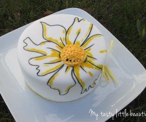 Johannas Flower Power für den Kuchenteller