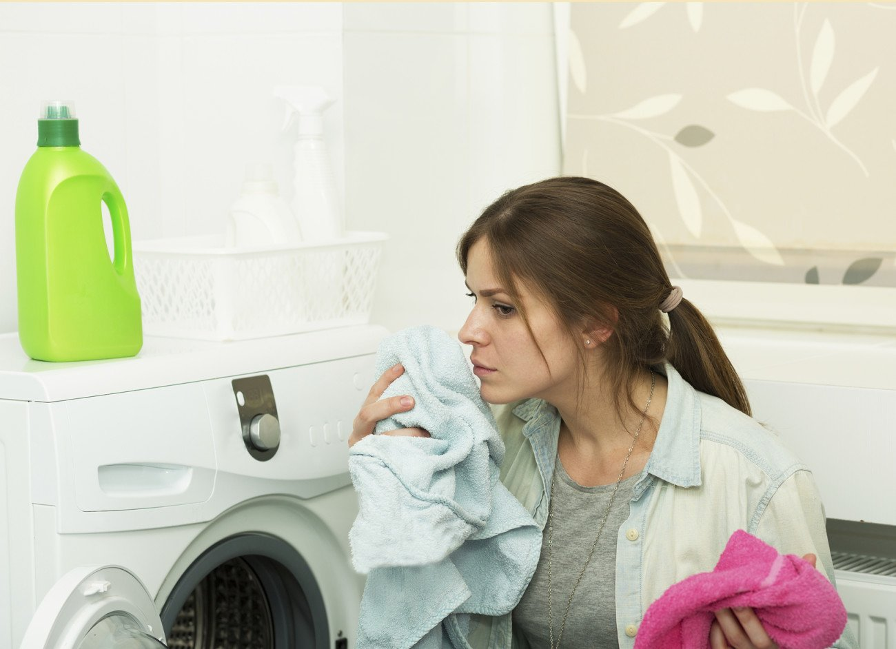 Handtücher waschen bei richtiger Temperatur