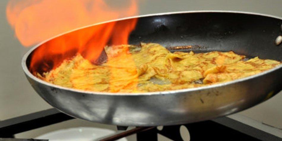 Flambieren Crepe Suzette