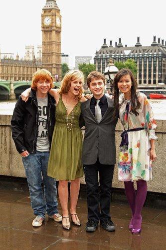2007: Rupert, Emma, Daniel und Katie Leung